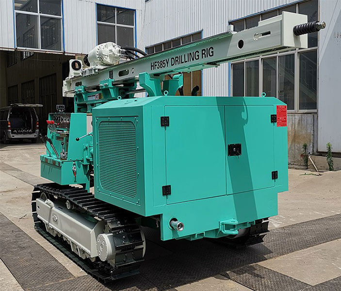 HF385Y Photovoltaic Solar Pile Drilling Rig Sent To Malaysia